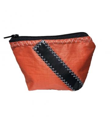 Porte-monnaie en voile orange Numéro Noir